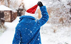 Hintergrundbilder Winter Schnee Hinten Mütze Pelzmantel Hand Handschuh