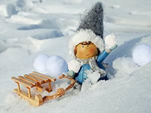 Hintergrundbilder Winter Spielzeuge Schnee Schlitten Kleine Mädchen Mütze