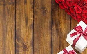 Hintergrundbilder Bretter Geschenke Vorlage Grußkarte