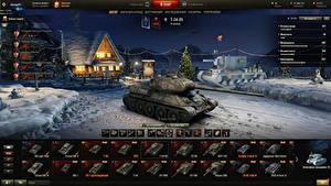 Fotos World of Tanks Neujahr Panzer T-34 Russisches T-34-85 in the hangar Spiele