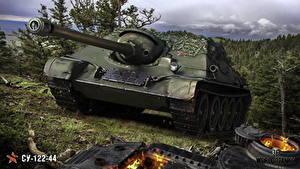 Bilder WOT Selbstfahrlafette Russisches SU-122-44 Spiele