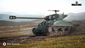 Bilder WOT Panzer Schlamm M4A1 Revalorise Spiele 3D-Grafik