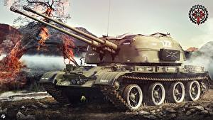 Bilder World of Tanks Waffe Russischer ZSU-57-2 Spiele