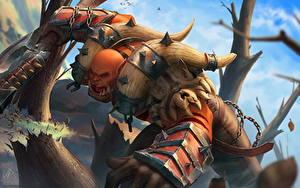Bilder World of WarCraft Krieger Ork Schreien Garrosh Fantasy