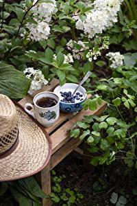 Hintergrundbilder Joghurt Heidelbeeren Tee Ast Tasse Schüssel Lebensmittel