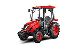 Bilder Traktor Rot Weißer hintergrund Zetor Utilix CL 55, 2019