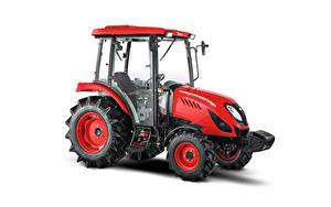 Bilder Traktoren Rot Weißer hintergrund Seitlich Zetor Utilix CL 55, 2019