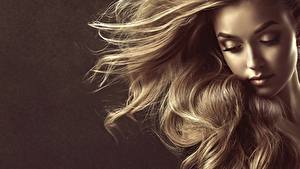 Photo Hair Dark Blonde Modelling Face by Sofia Zhuravets young woman