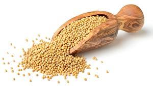 Fotos Aus Holz Weißer hintergrund Getreide peas Lebensmittel