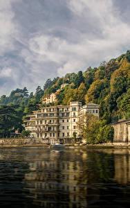 Hintergrundbilder Italien See Gebäude Küste Venedig Hotel Villa Flori Como