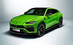 Hintergrundbilder Lamborghini Grün Metallisch Softroader Urus Pearl Capsule 2020 Autos