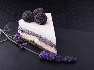 Hintergrundbilder Süßigkeiten Törtchen Lavendel Grauer Hintergrund Lebensmittel