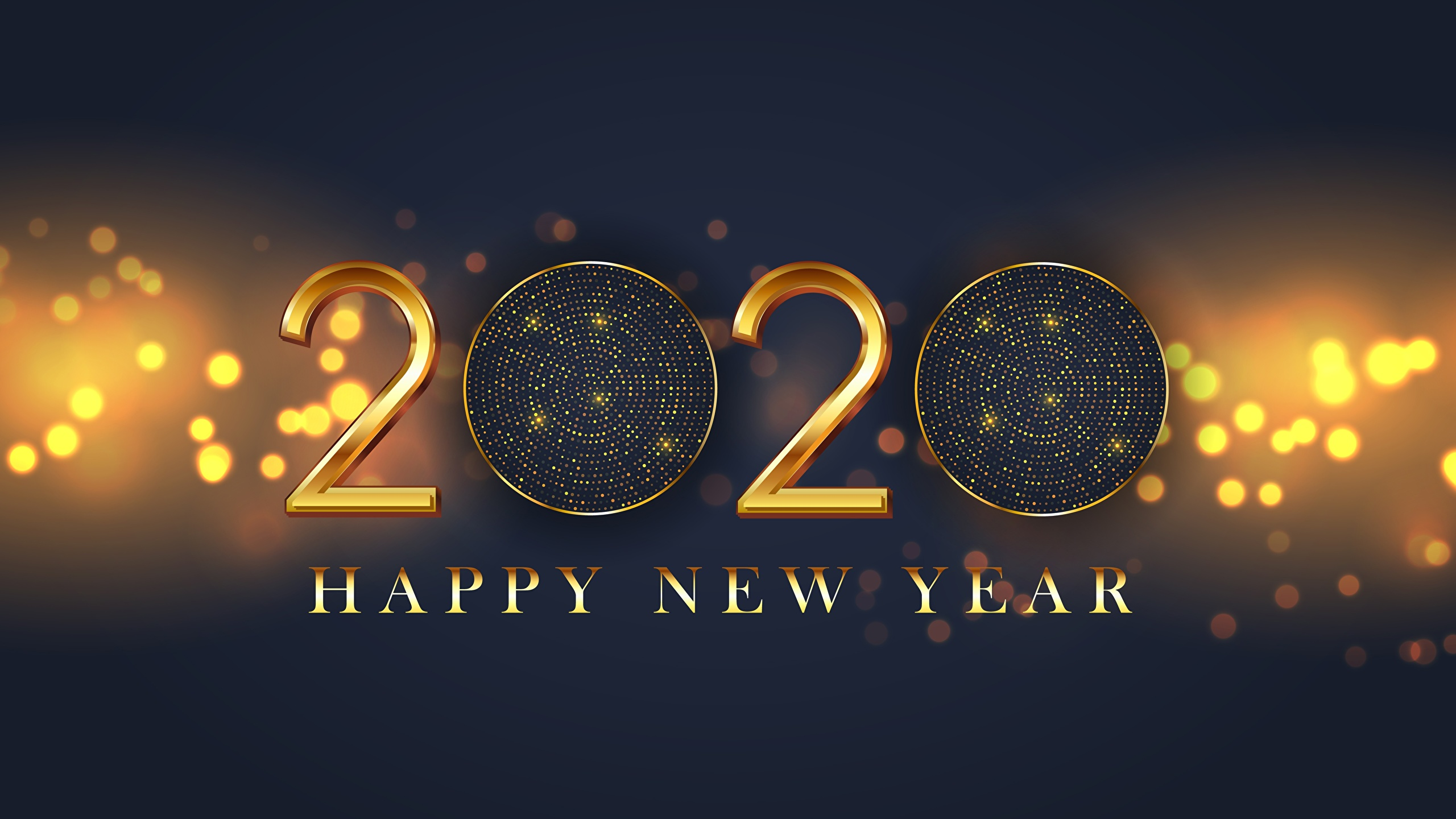 Image 2020 New Year English Word Lettering 2560x1440