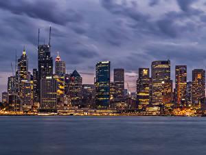 Images Australia Building Evening Skyscrapers Sydney Bay Cities