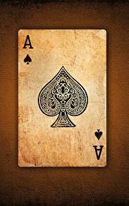 Tapety na pulpit Karty do gry Z bliska As karta