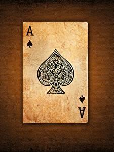 Bakgrunnsbilder Spillkort Nærbilde Ess kortspill