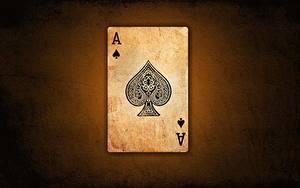 Fotos Spielkarte Großansicht Ass Spielkarte