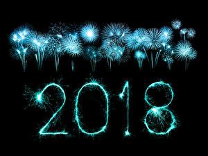 Fotos Neujahr Feuerwerk Schwarzer Hintergrund 2018