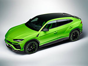 Bilder Lamborghini Grün Metallisch Crossover Urus Pearl Capsule 2020 Autos