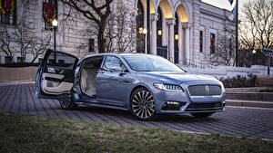 Wallpapers Lincoln Light Blue Metallic 2019 Continental 80th Anniversary Coach Door Edition automobile