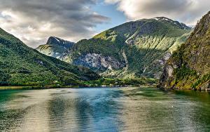 Hintergrundbilder Norwegen Gebirge Flusse Wälder Landschaftsfotografie Aurland Natur