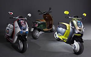 Hintergrundbilder Motorroller Drei 3 2010 MINI Scooter E Concept Motorräder