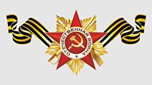 Fotos Tag des Sieges 9 Mai Vektorgrafik Feiertage Orden Medaille Russische