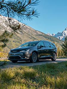 Bilder Chrysler Grau Metallisch Hybrid Autos  automobil