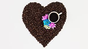 Fotos Kaffee Getreide Herz Tasse