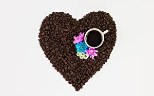 Fotos Kaffee Getreide Herz Tasse Lebensmittel
