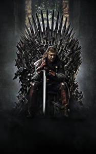 Hintergrundbilder Game of Thrones Mann Schwert Thron Sitzen Film Prominente