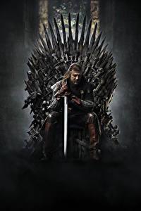 Hintergrundbilder Game of Thrones Mann Schwert Thron Sitzend Film Prominente