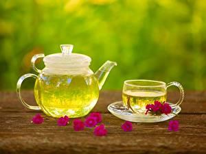 Bilder Flötenkessel Tee Tasse Untertasse Lebensmittel