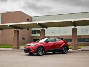 Bilder Toyota Crossover Rot Metallisch C-HR, North America, 2019 automobil