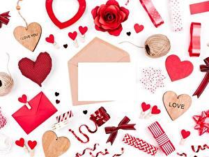 Papéis de parede Dia dos Namorados Coração Cartão do molde