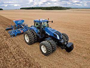 Hintergrundbilder Acker Landwirtschaftlichen Maschinen Traktoren 2010-14 New Holland T8.360