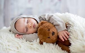 Fotos Teddy Schlaf Jungen Kapuze kind