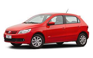 Hintergrundbilder Volkswagen Rot Metallisch Weißer hintergrund  auto