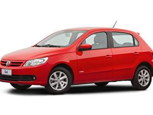 Papel de Parede Desktop Volkswagen Vermelho Metálico Fundo branco