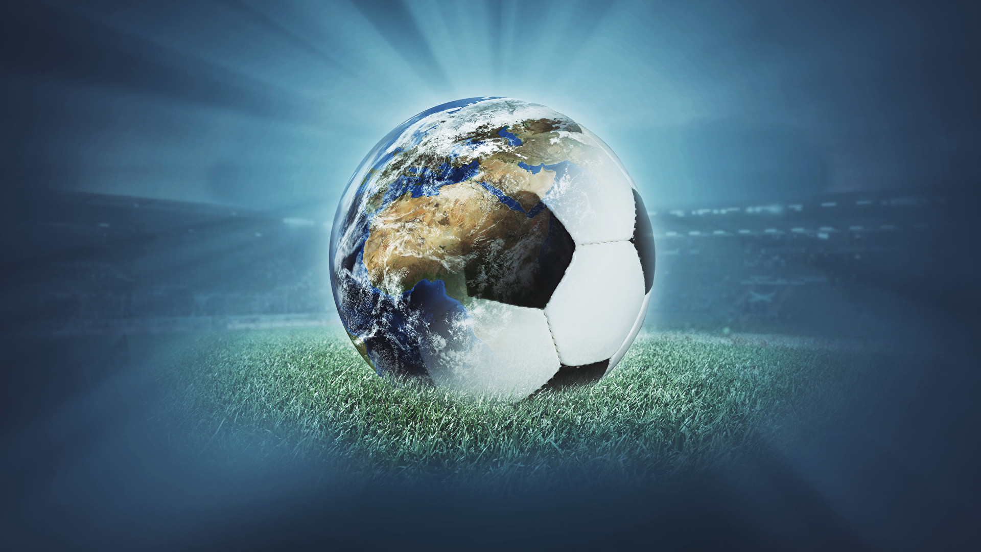 Photo Earth Sports Footbal Ball 1920x1080
