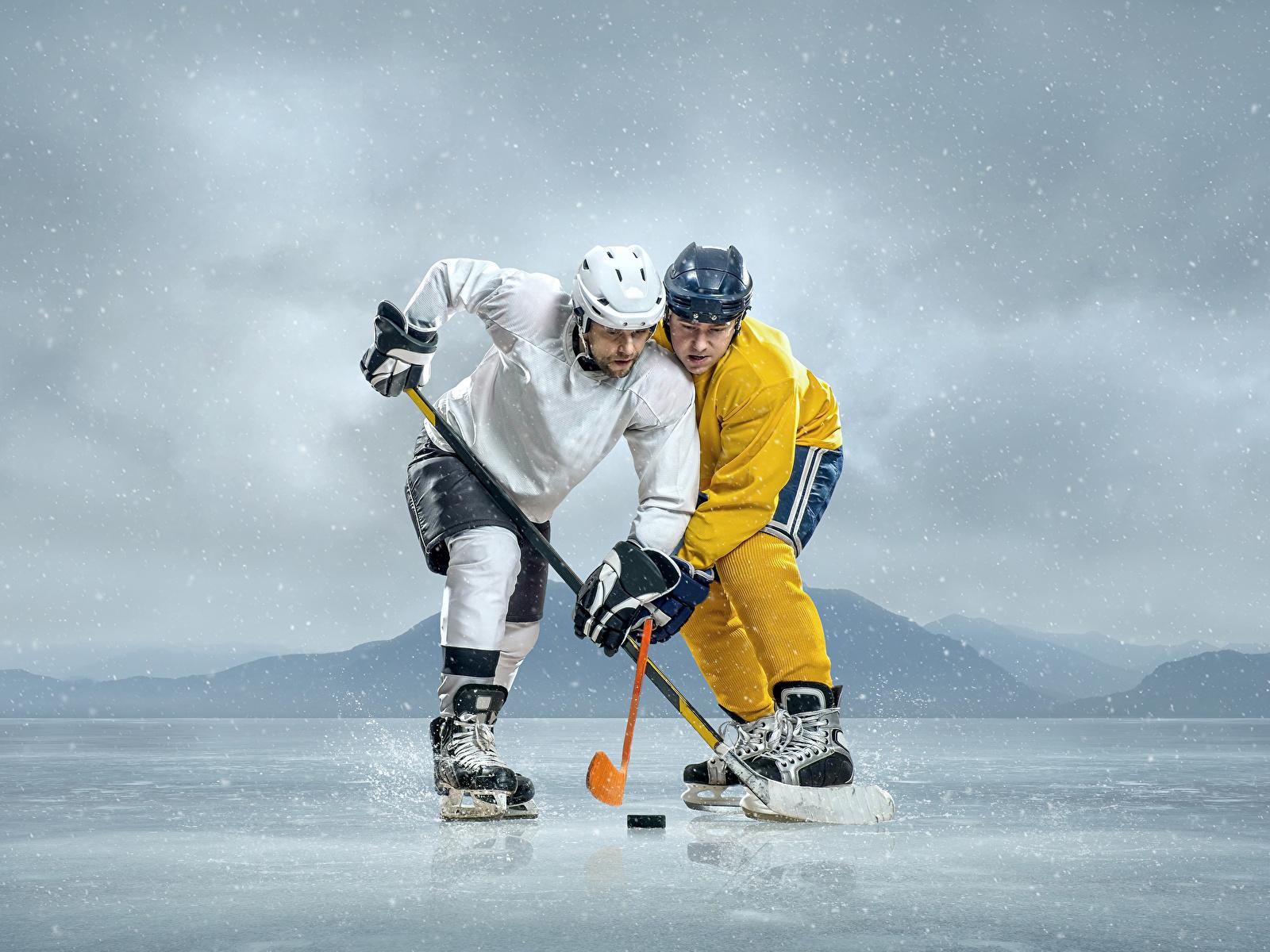 Hintergrundbilder Helm Mann Eis 2 Sport Hockey Uniform 1600x1200 Zwei