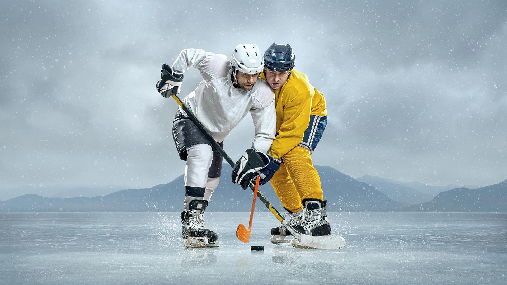 Hintergrundbilder Helm Mann Eis 2 Sport Hockey Uniform 1920x1080 Zwei sportliches