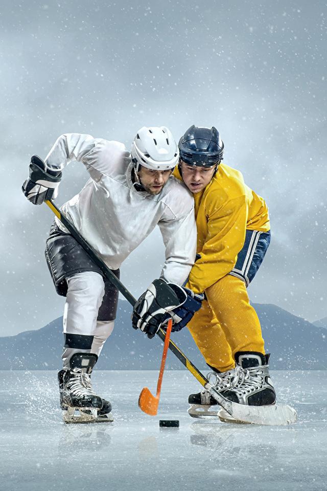 Hintergrundbilder Helm Mann Eis 2 Sport Hockey Uniform 640x960 Zwei sportliches