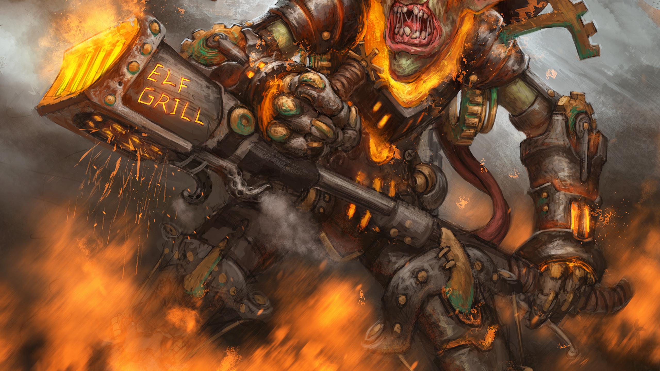 Image Hearthstone Heroes Of Warcraft Goblin Warrior 2560x1440