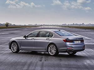 Bureaubladachtergronden BMW Sedan Grijze Metallic Zijaanzicht 7 series, G11/G12 Auto