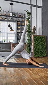 Bilder Fitness Körperliche Aktivität Bein Mädchens Sport
