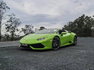 Fotos Lamborghini Gelbgrüne Metallisch
