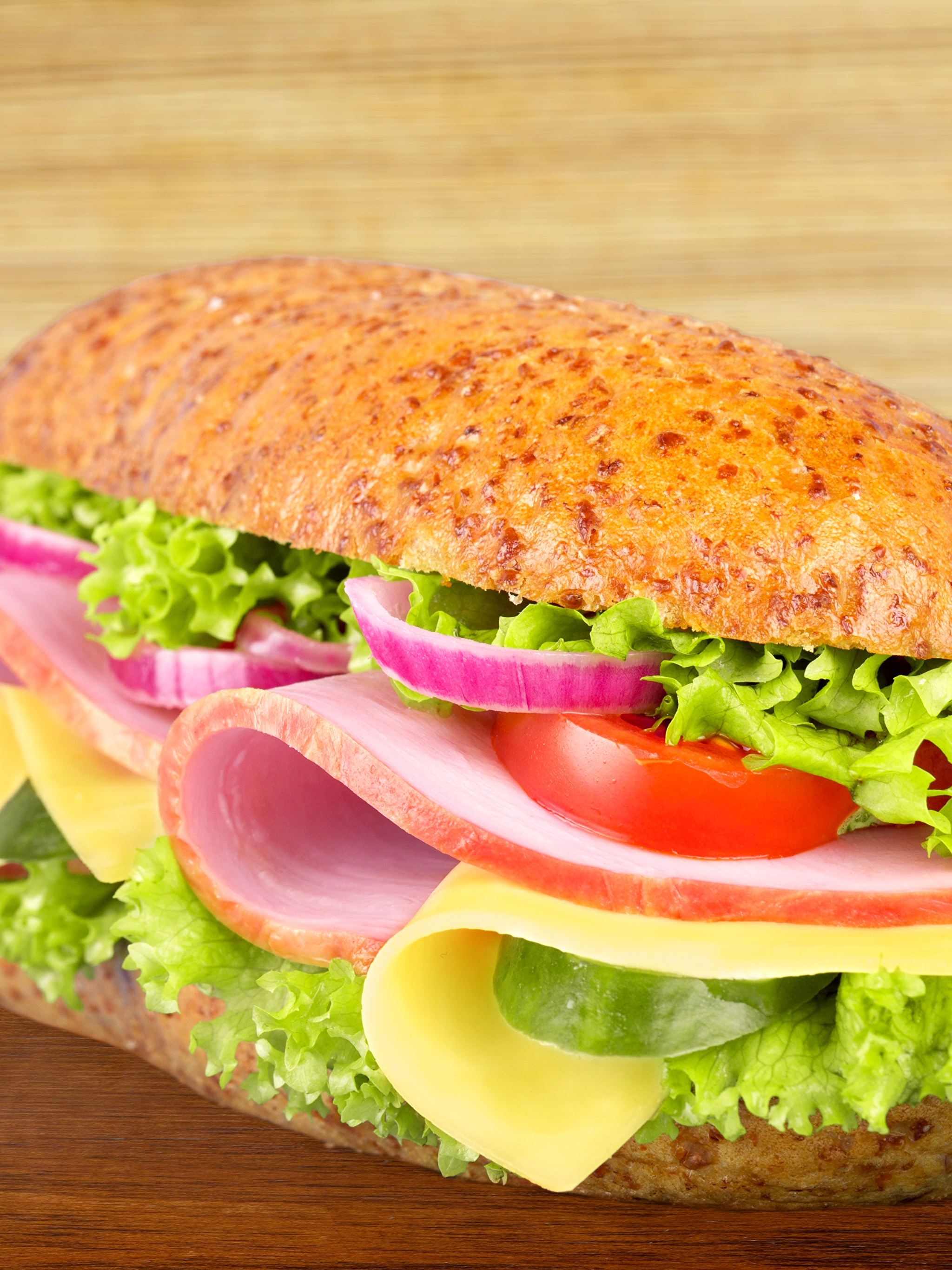 Hintergrundbilder Lebensmittel Schinken Brötchen Fast food Butterbrot Bretter Gemüse Sandwich 2048x2732