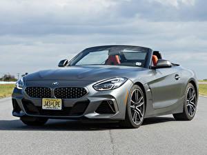 Bureaubladachtergronden BMW Grijze Vooraanzicht Roadster Asfalt Z4 M40i 2019-2020 auto's