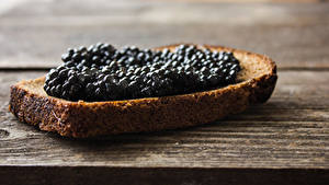 Fotos Butterbrot Brot Caviar Bretter das Essen